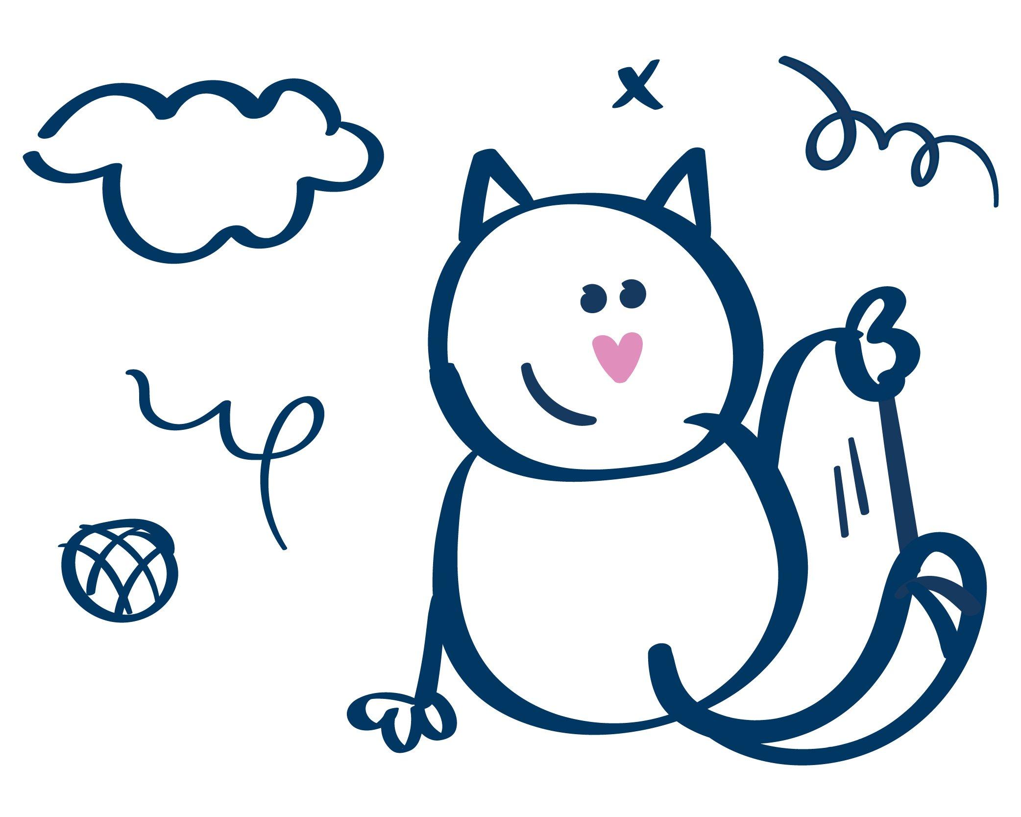 Notarec kissa kuvituskuva
